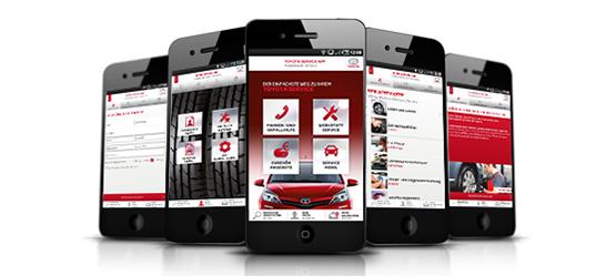 Die Toyota Service App