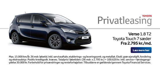 Verso 1.8 T2 Toyota Touch 7 sæder