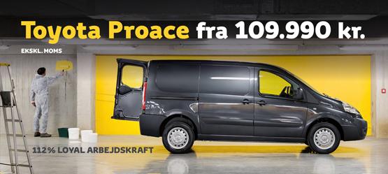 Proace - Hør mere hos din Toyota-forhandler