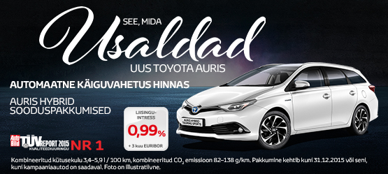Toyota Auris eripakkumine