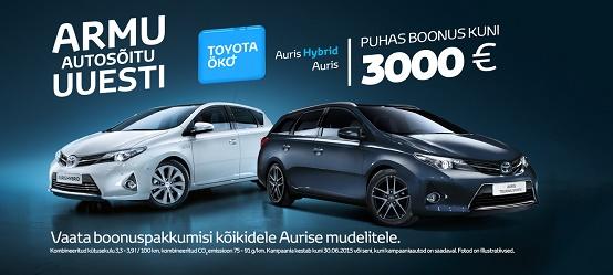 Toyota Öko+ Auris ja Auris Hybrid eripakkumine