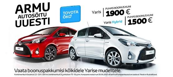 Toyota Öko+ Yaris ja Yaris Hybrid eripakkumine