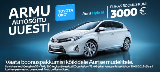 Toyota Öko+ Auris Hybrid eripakkumine