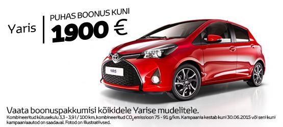Toyota Öko+ Yaris eripakkumine