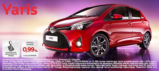 Toyota Yaris eripakkumine