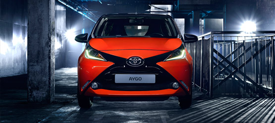 All-new AYGO. Launch from a different perspective.
