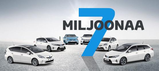 Jo seitsemän miljoonaa myytyä Toyota-hybridiautoa