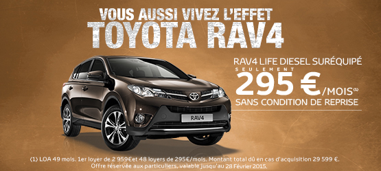 Toyota RAV4 Life Diesel Suréquipé