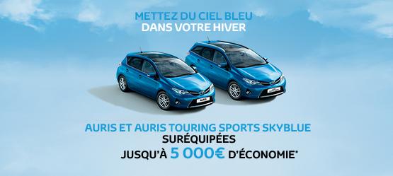 Auris et Auris Touring Sports SkyBlue suréquipées