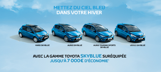 Gamme Toyota SkyBlue Suréquipée