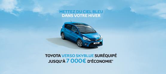 Toyota Verso SkyBlue suréquipé