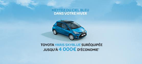 Toyota Yaris SkyBlue suréquipée