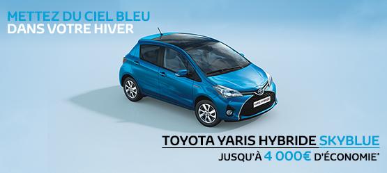 Toyota Yaris Hybride Skyblue Suréquipée