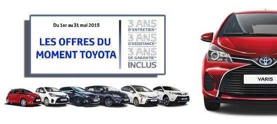 Les offres du moment Toyota