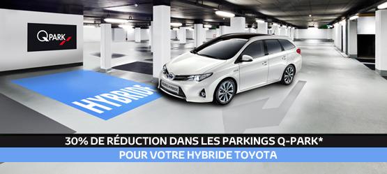 30% de remise sur le stationnement de votre Hybride
