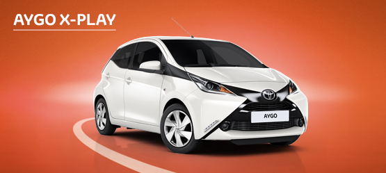 AYGO X-Play from £102 + VAT per month† (Contract Hire)