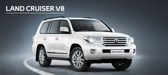 Land Cruiser V8 from £688 + VAT per month† (Contract Hire).