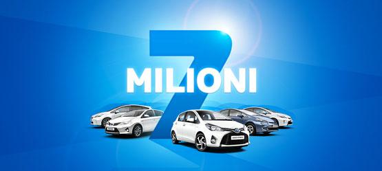 7 milioni di ibride Toyota vendute nel mondo.