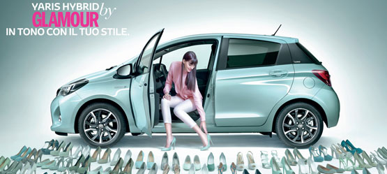 Scopri la nuova Yaris Hybrid by Glamour