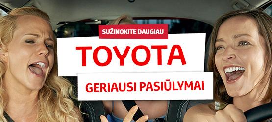 Toyota geriausi pasiūlymai
