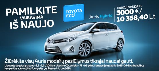 Toyota Eco+ - Toyota Auris Hybrid pasiūlymas