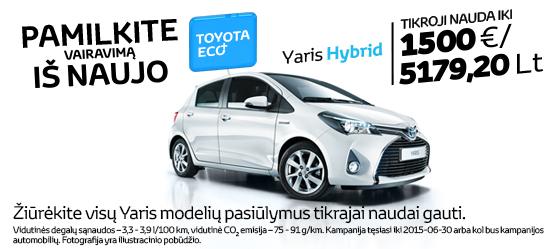 Toyota Eco+ Yaris Hybrid pasiūlymas