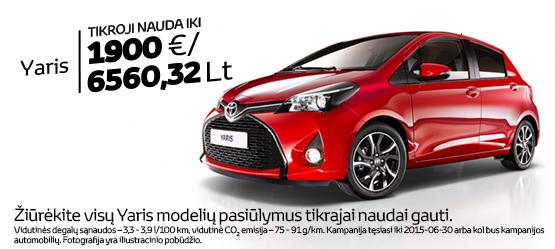Toyota Eco+ Yaris ir Yaris Hybrid pasiūlymas