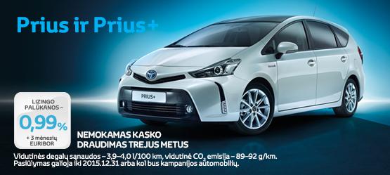 Specialus Prius ir Prius+ pasiūlymas