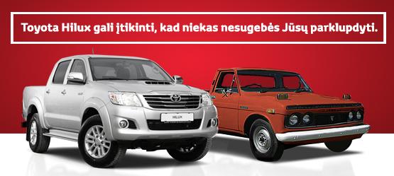 Toyota Hilux. Rimtas pasiūlymas.