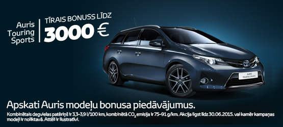 Toyota Eko+ bonuss Auris un Auris Touring Sports modeļiem