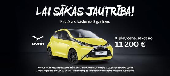 Jaunais Toyota AYGO