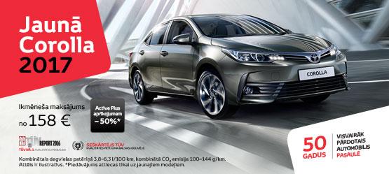Skaistas cenas visiem Toyota Corolla modeļiem
