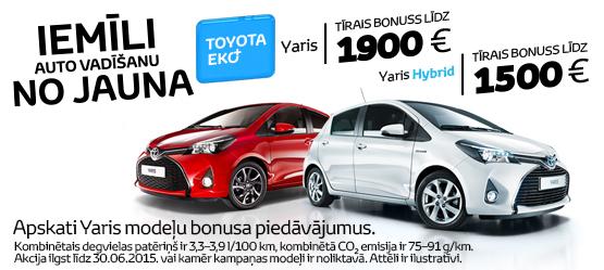 Toyota Eko+ bonuss visiem Yaris