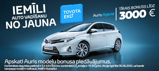 Toyota Eko+ bonuss Auris Hybrid modelim