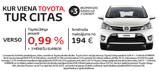 Kur viena Toyota, tur citas*
