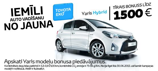Toyota Eko+ bonuss Yaris Hybrid modelim