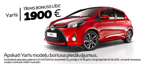 Toyota Eko+ bonuss Yaris modelim