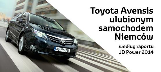 Toyota Avensis ulubionym samochodem Niemców według raportu JD Power 2014