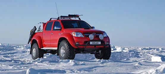 Toyota Hilux став першим автомобілем усвіті, щосвоїм ходом дістався доПівнічного полюса!