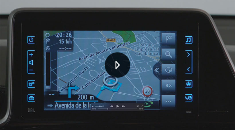 Navegador del Toyota Touch