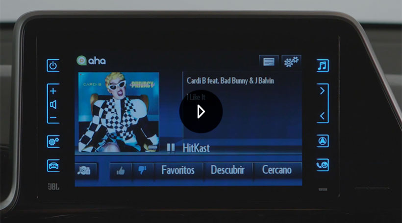 Reproductor multimedia del Toyota Touch