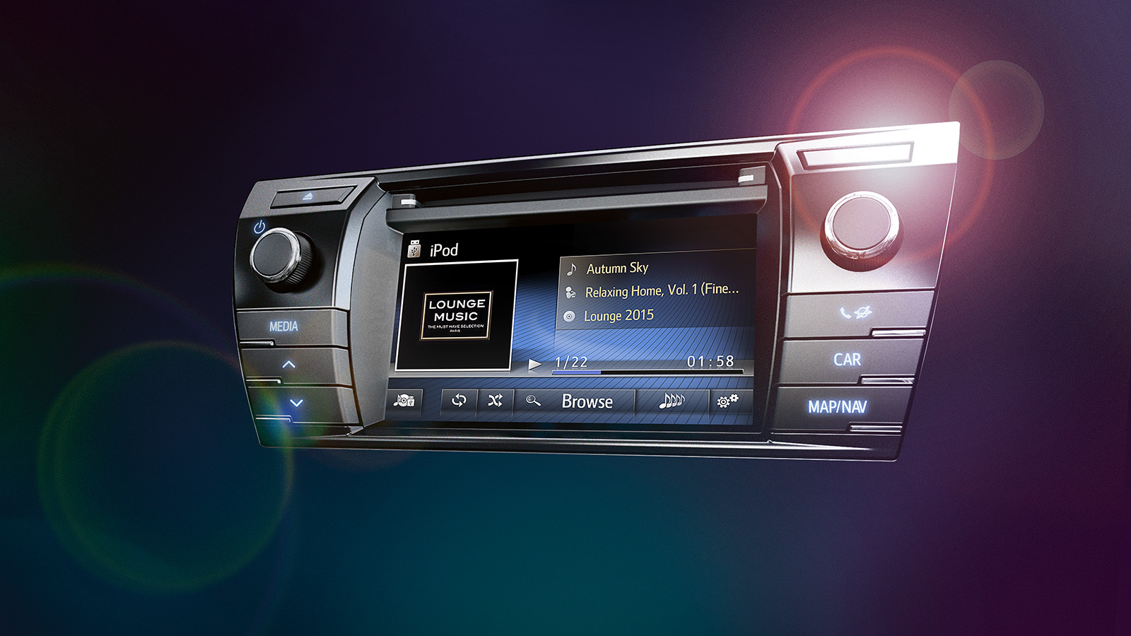 The new Toyota Touch® 2 multimedia system