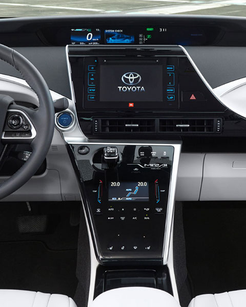Mirai, Fuel Cell, driving, Germany,dash board, daytime, light