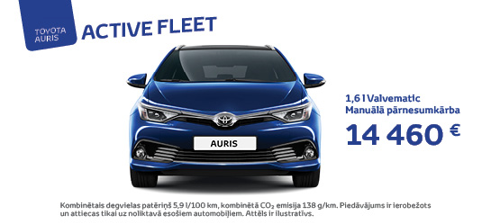 Toyota Auris Active Fleet akcija