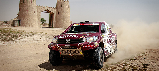 24/04/2017 Нассер Аль-Аттия на Toyota Hilux выиграл Qatar Sealine Rally