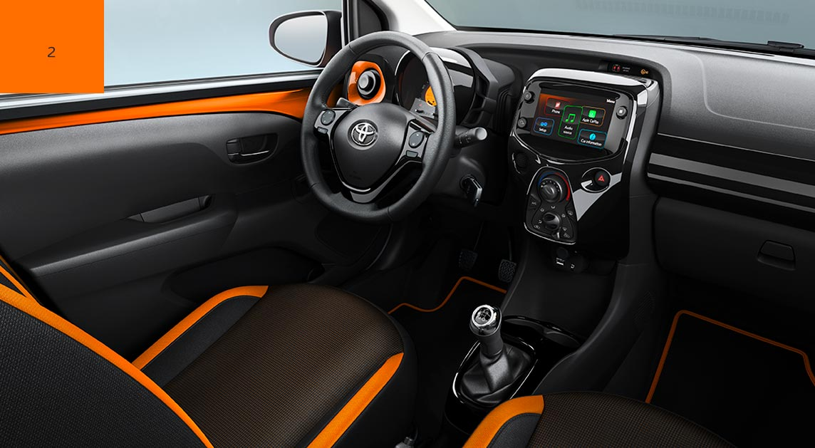 Toyota AYGO Selection x-cite : Interiér